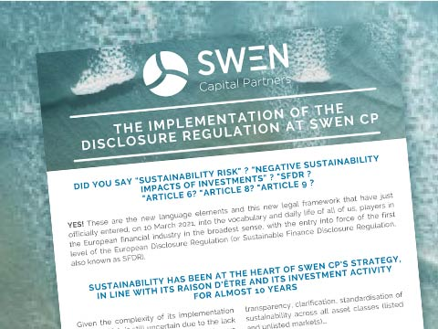 The implementation of the Disclosure regulation at SWEN CP